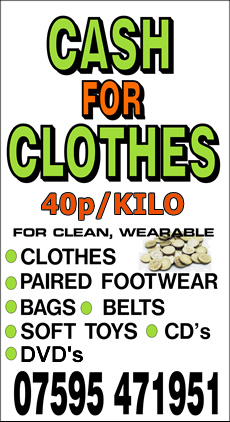 Sheffield Cash 4 Clothes. Welcome to Sheffield Cash for Clothes. Call us on We offer a collection service only from all locations in Sheffield and South Yorkshire, and we pay cash on collection. We do not have a Drop-off facility.